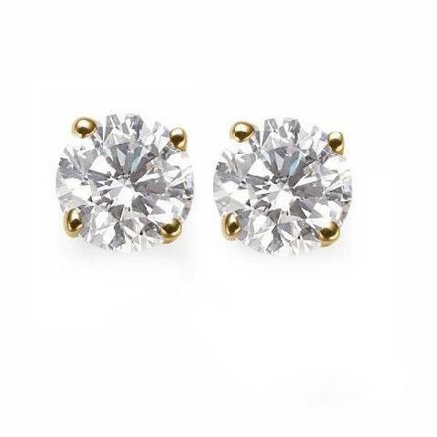 14K Gold Stud Screw Back Earrings 7mm for Children,Woman,Man ON SALE - $28.41