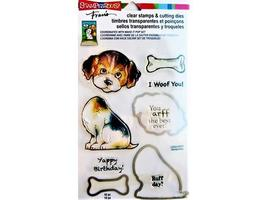 Stampendous Puppy Clear Stamp Set with Coordinating Dies #CSD02