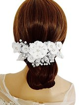 Lovely Fashion Bridal Hair Accessories Flower Hair Clip, White image 2