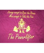 The Powerlifter T-Shirt with logo Size XL - $5.59