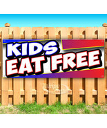 KIDS EAT FREE Advertising Vinyl Banner Flag Sign Many Sizes CARNIVAL FOOD - $14.24+