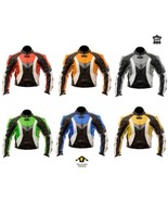 New Mens Motorcycle Biker Leather Jacket Red Orange Gray Yellow Green Blue - $179.99