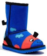 Jumping Beans Mushu Blue Toddler Boys Girls Side Zipper Boots Shoes - $19.99