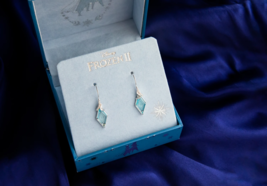 Disney Frozen 1 2 Exclusive Limited Edition Ice Crystal Diamond Earrings & Box - $199.99