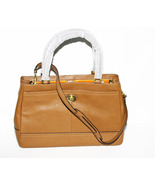 Coach Handbag British Tan Leather Carryall Shou... - $229.99