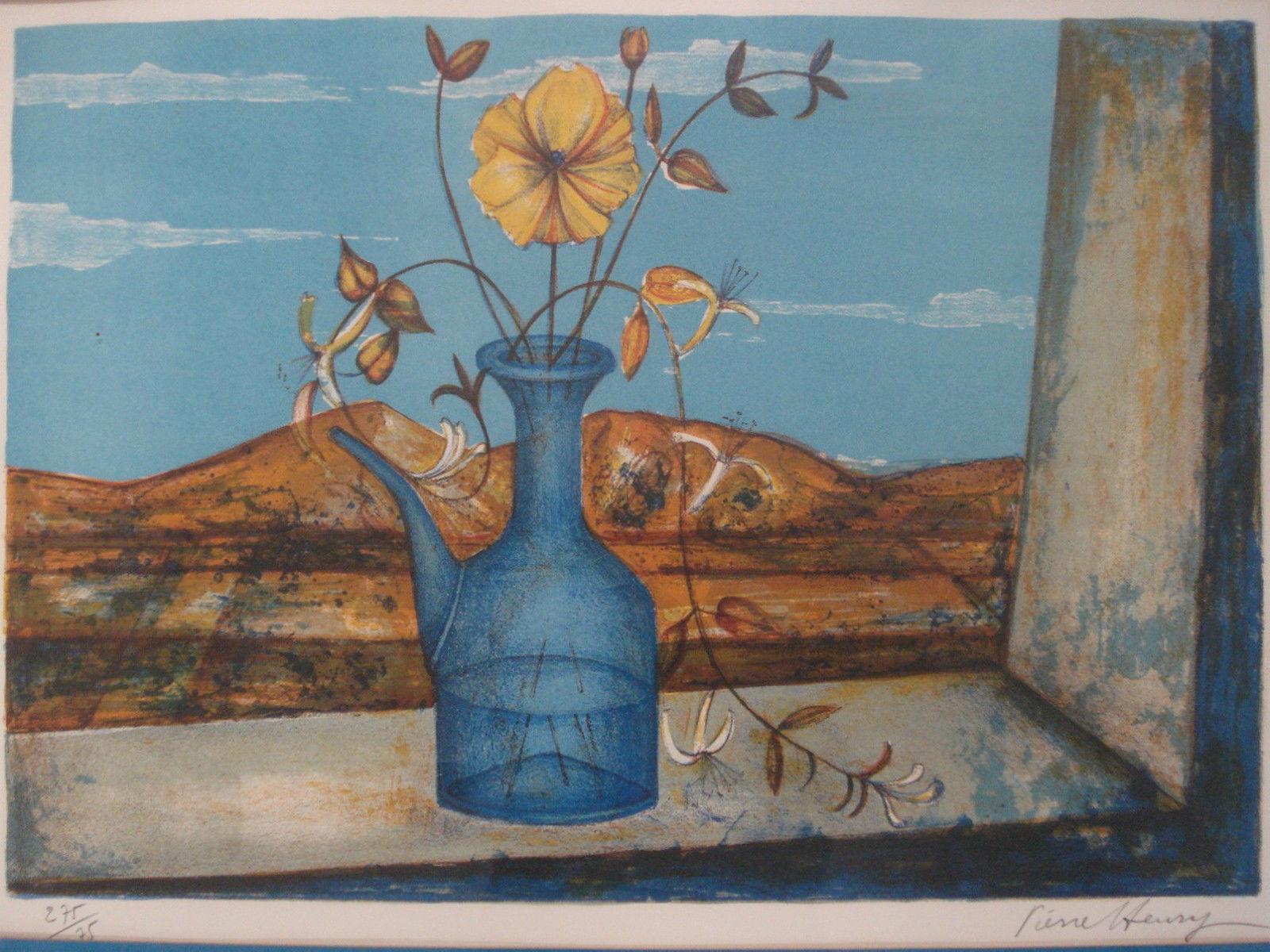French Artist Pierre Henry Lithograph Print Pencil Sign b1931 List Ltd Ed 01326