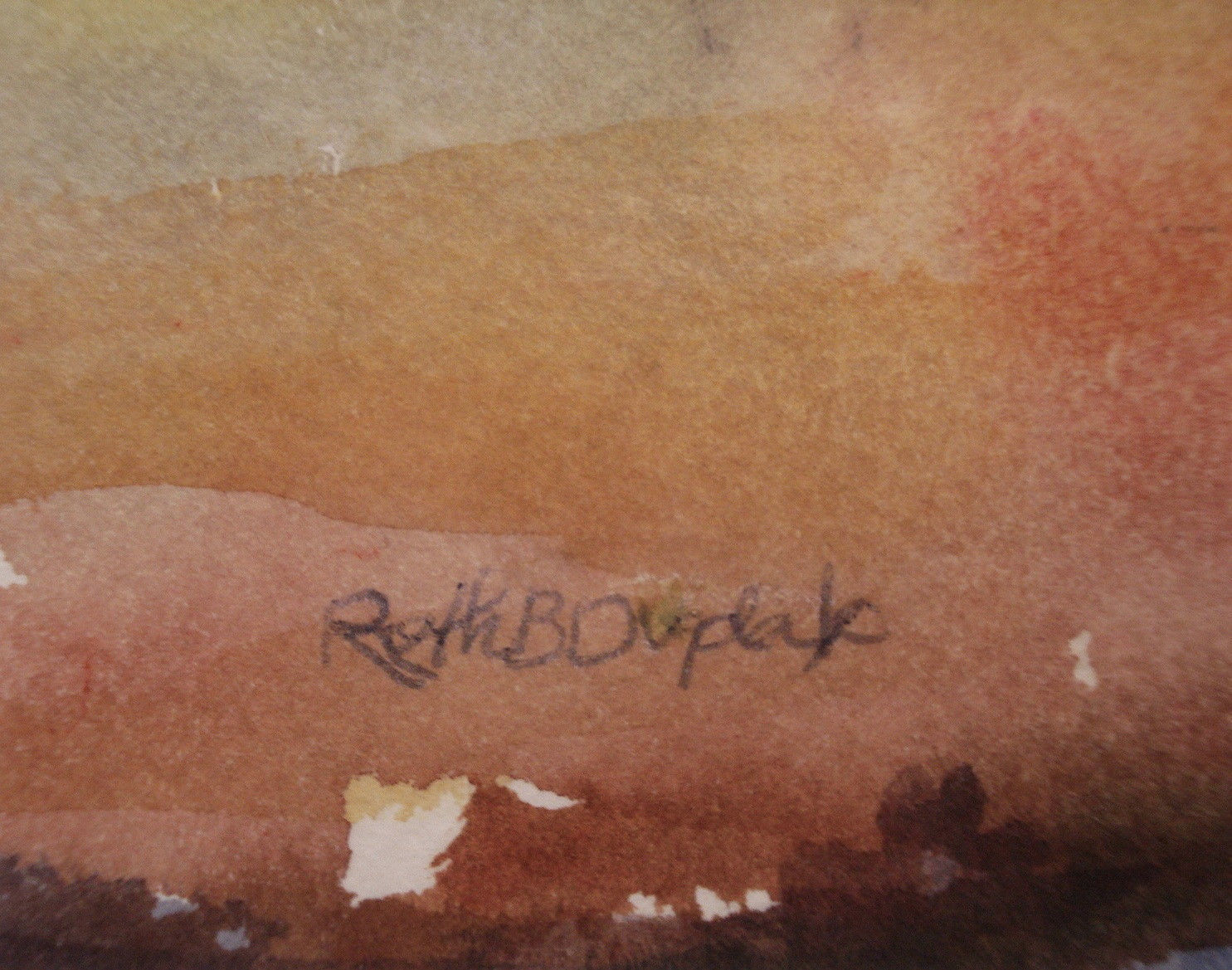 Art Paintings Ruth Dugdale Signed Watercolor Providence Art Club 01968