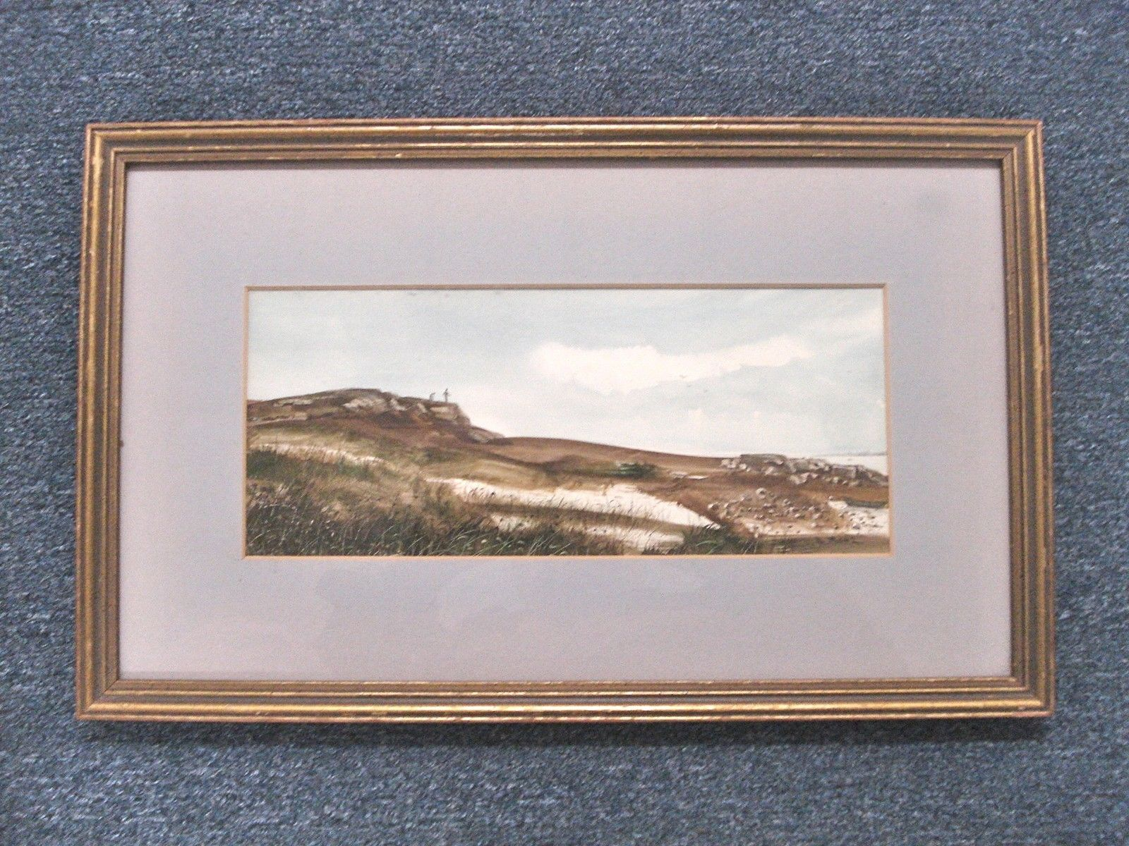 Art Paintings A Nunz Rhode Island RI Watercolor Waterview Signed 00630