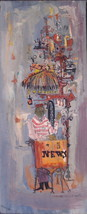 Susan Bolt Art Painting Signed Listed Mixed Media 01270 - $199.00