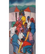 Haitian Painting Maurice Guerre Haiti Artist Listed Signed Oil on Board ... - $89.00