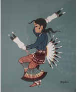 Beatien Yazz Navajo Indian Artist b1928 Little No Shirt Listed Signed 01945 - $199.00