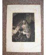 Rembrandt Etching The Great Jewish Bride 1880 Salmon & Ardail 01567 - $129.00