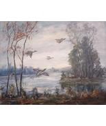 Duck Paint NH Art Rockport Artist Ivar Matheson Boston Art Club Listed 0... - $299.00