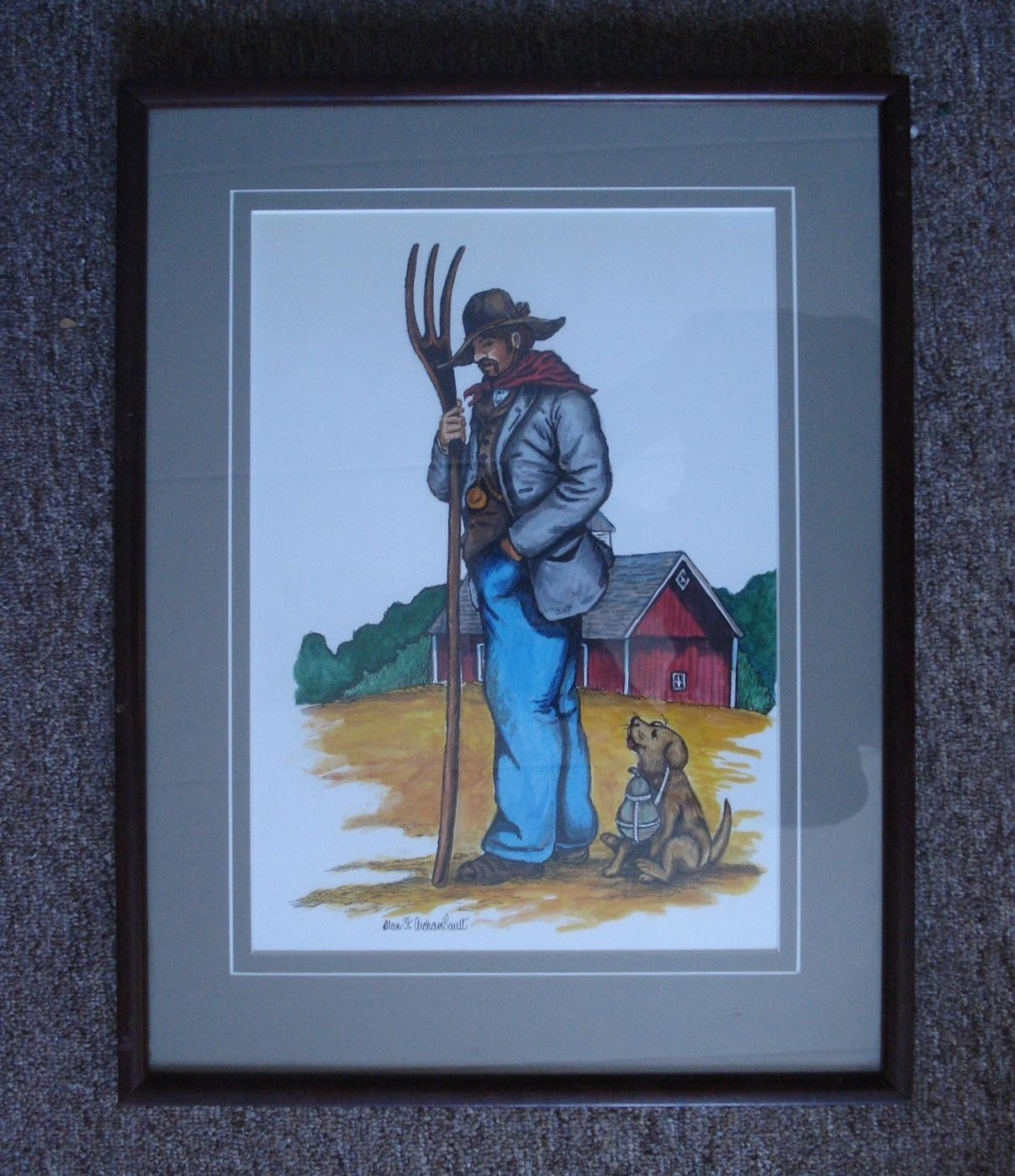 Alan Archambault Art Watercolor Painting Signed Fort Lewis Museum Director 01130