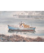 Prov Art Club Rockport Artist Alfred Fritz DiSalvo Watercolor Painting 0... - $299.00
