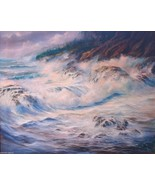 Jorge Anderson Seascape Painting ME Maine Mount Desert Isle 1981 Signed ... - $2,900.00