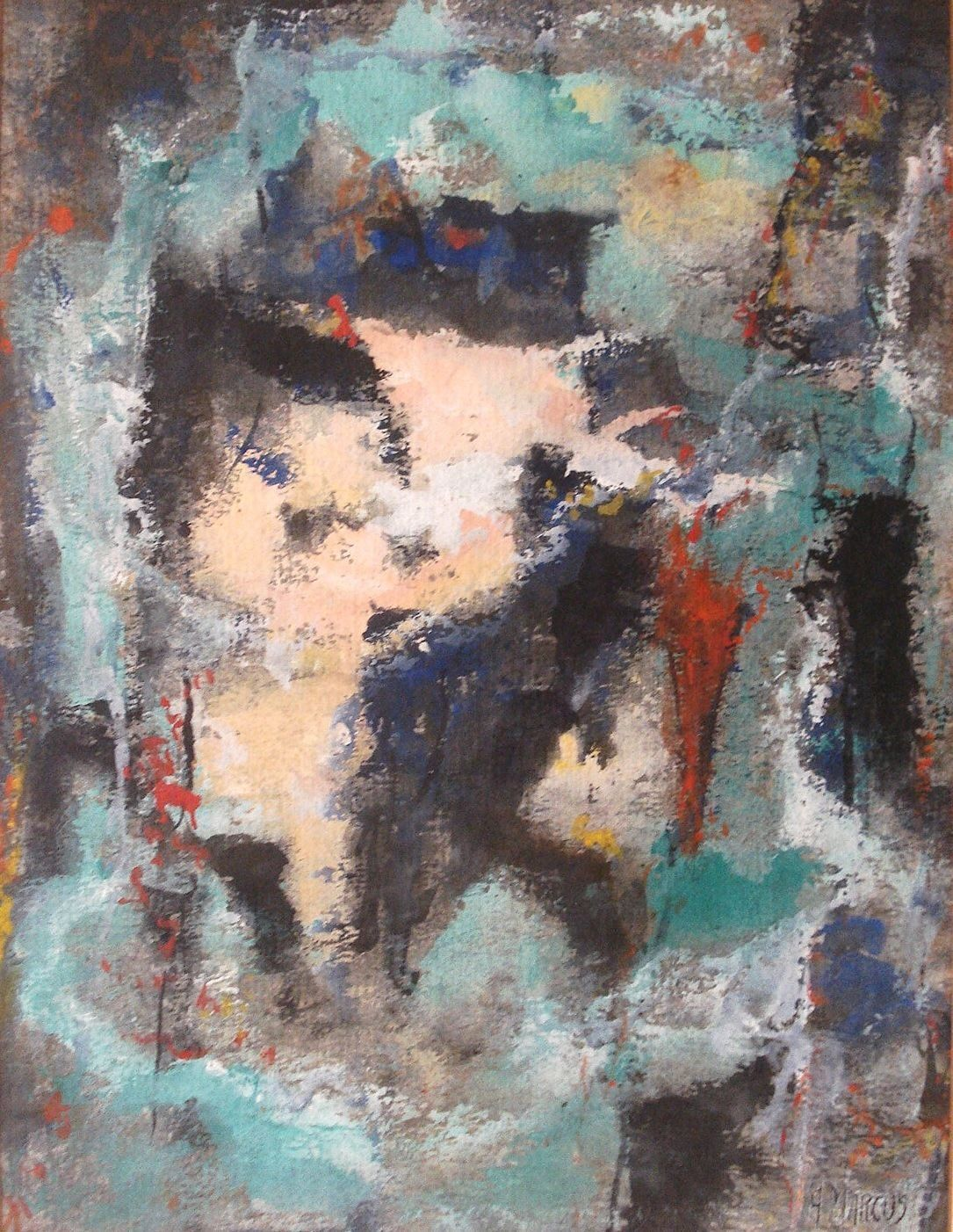 Ashley Marcus Art Abstract Painting Home Decor Signed 01504