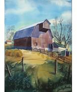 Dudley Gordon Art Painting 6 Watercolors 2 Signed Farm Boat Train Statio... - $179.00