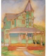 Pastel Art Painting Dana Bolton Victorian House Signed Vintage 00628 - $174.00