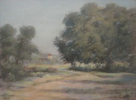 Pastel Painting Landscape G F Mills Signed Art Home Decor 01612 - $255.00