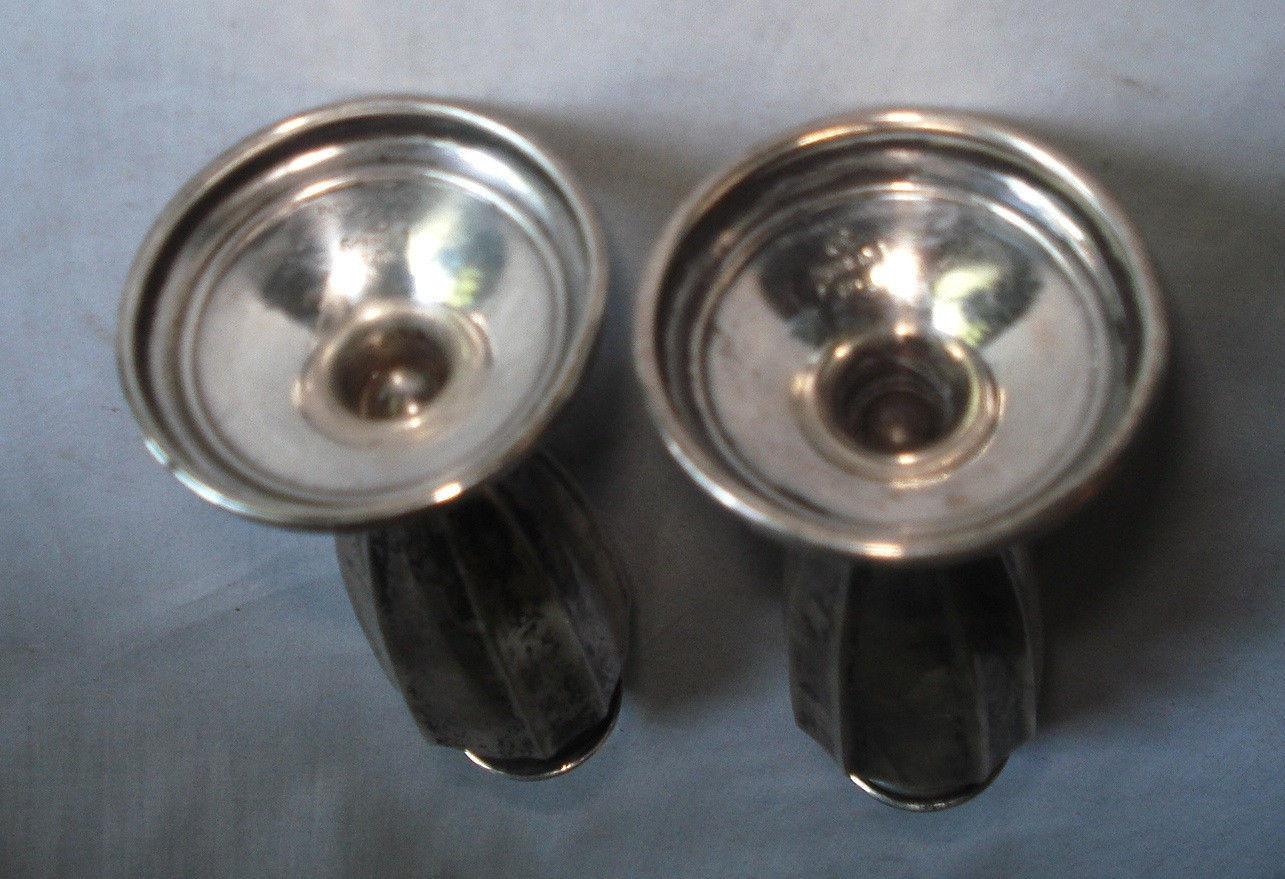 International Silver Antique Salt & Pepper Shakers Sterling Signed 01804