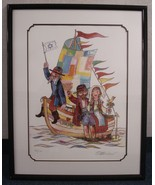 Jovan Obican b1918 - 1986 Art Print Pencil Signed Voyage Of Love Listed ... - $195.00