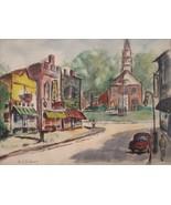 Rockport Artist Alfred Fritz J DiSalvo MA The Village Street Signed List... - $299.00