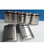 6 Wedding Bachelor Party Personalized Stainless Steel Liquor Flasks 6 or... - $149.99
