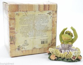 Boyds Bears Tutu C Ribbit Frog Lake Resin Figurine Wee Folkstone Collectible Art - $14.99