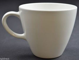 """Corning White Coupe Pattern Flat Cup 3"""" Tall China Tableware Retro Elegant - $7.99"""