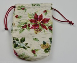 Longaberger 08 Tree Trimming Little Shopper Basket Liner Holiday Plaid B... - $9.99