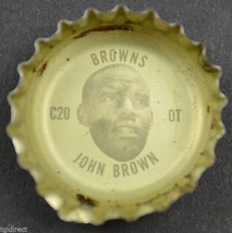 Vintage Coca Cola NFL Bottle Cap Cleveland Browns John Brown Coke King S... - $6.99