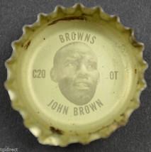Vintage Coca Cola NFL Bottle Cap Cleveland Browns John Brown Coke King Size Soda - $6.99