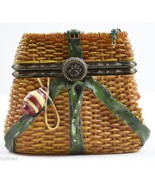 Boyds Bears Resin Treasure Box Opie's Creel Basket Minnow McNibble Mouse... - $24.99