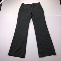 Express Design Studio Editor Women's Size 6 Stripe Dark Gray Bootcut Dre... - $19.78