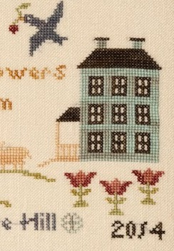 Springtime On Hodge Hill cross stitch chart Threads Of Memory