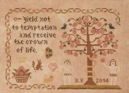 Yield Not adam and eve cross stitch chart Threads Of Memory   - $8.10