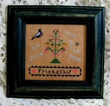Friendship  cross stitch chart Threads Of Memory   - $7.20