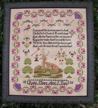 Rachel Mauger Reproduction Sampler cross stitch chart Threads Of Memory   - $16.20