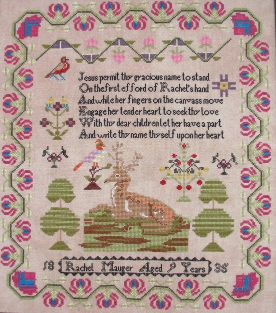 Rachel Mauger Reproduction Sampler cross stitch chart Threads Of Memory