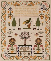 Harriet Hodges Reproduction Sampler cross stitch chart Threads of Memory   - $18.00