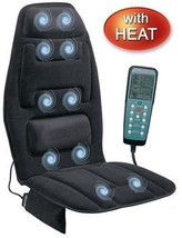Massage Cushion Heat Chair Muscles Auto Back Neck Home Portable Shiatsu ... - $79.19