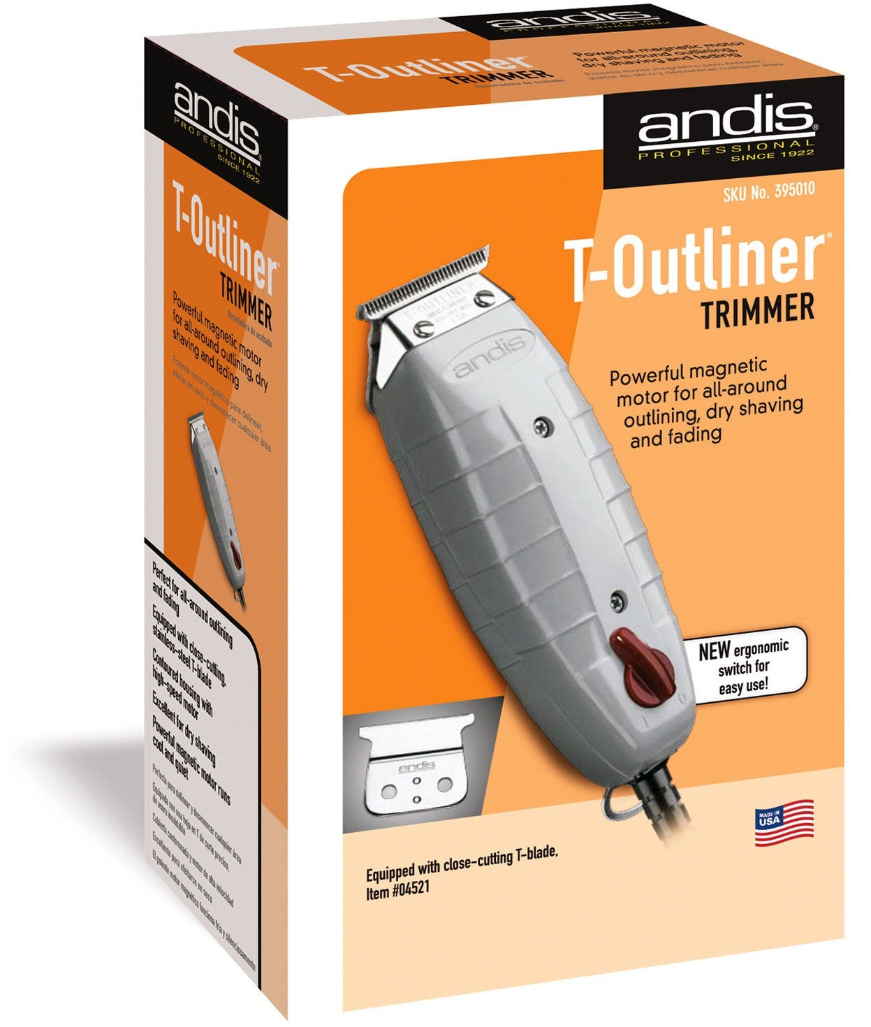 Andis T-OUTLINER Trimmer # 04710 Barber Salon Hair cut *NIB* Original Classic