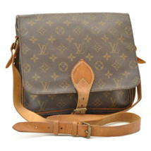 LOUIS VUITTON Monogram Cartouchiere GM Shoulder Bag M51252 LV Auth 9389 - $280.00