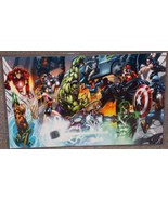 Marvel Avengers vs DC Justice League Glossy Print 11 x 17 In Hard Plasti... - $24.99