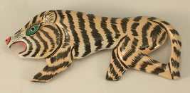 Unsigned Artist Made Tiger Brooch Very Imaginative Stylized Design - $13.00