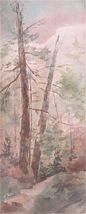 Elizabeth Ryan AWS Watercolor Painting Landscape Signed 00686 - $154.00