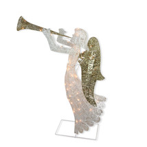 "Northlight 48"" Lighted Glittered Trumpeting Angel Christmas Outdoor Deco... - €112,40 EUR"
