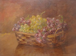 Mencaraglia Still Life Painting Oil on Wood Signed 01613 - $255.00