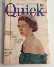 "Vintage Quick News Weekly Magazine 6"" X 4"" October 22, 1951 Princess Eli... - $9.22"